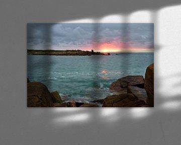Landrellec sunset, Cote de granit rose von 7Horses Photography