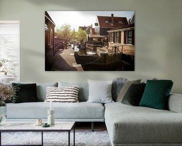 Sluis naast Raadhuis De Rijp van Keesnan Dogger Fotografie