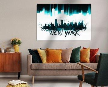Graphic Art NYC Skyline | türkis   von Melanie Viola