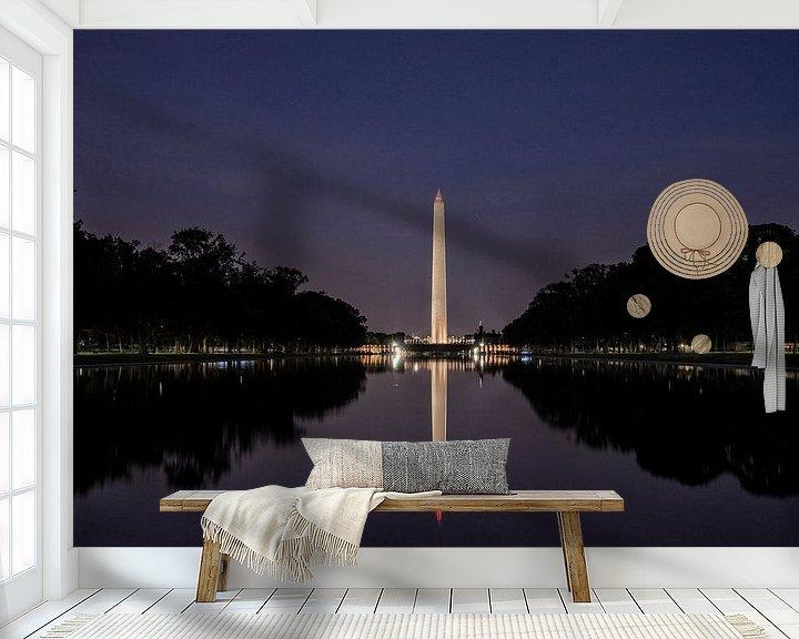 Sfeerimpressie behang: Washington Monument van VanEis Fotografie