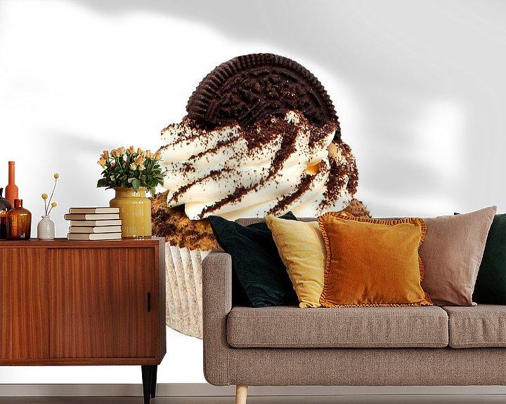 Sfeerimpressie behang: Cupcake van Studio LINKSHANDIG Amsterdam