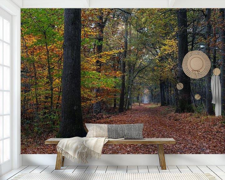 Sfeerimpressie behang: Fall Path In The Forest van William Mevissen