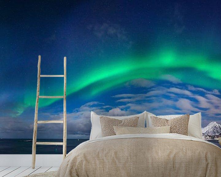 Sfeerimpressie behang: Flaget aurora van Wojciech Kruczynski