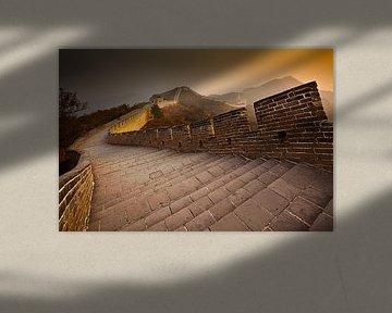 Chinesische Mauer bei Sonnenuntergang von Chris Stenger