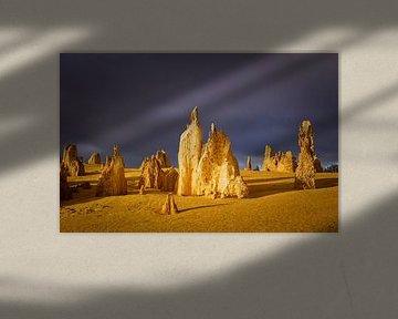 Landschap in de Pinnacles desert in Australië van Chris Stenger