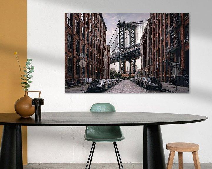 Sfeerimpressie: Manhattan Bridge van Photo Wall Decoration
