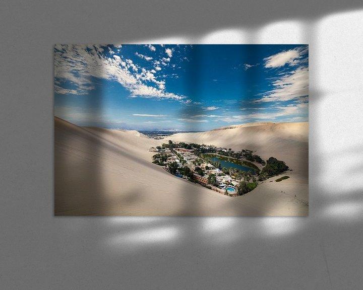 Sfeerimpressie: Woestijn Oasis in Huacachina, Peru van Bart van Eijden