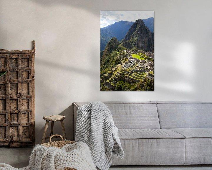 Sfeerimpressie: Machu Picchu, Peru - een bovenaanzicht van Bart van Eijden