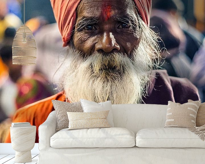 Sfeerimpressie behang: Varanasi, India van Bart van Eijden
