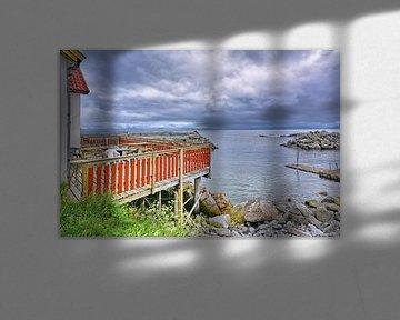 De veranda aan zee blijft leeg - Noorwegen van Gisela Scheffbuch