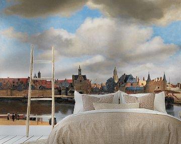 Gezicht op Delft van Vermeer