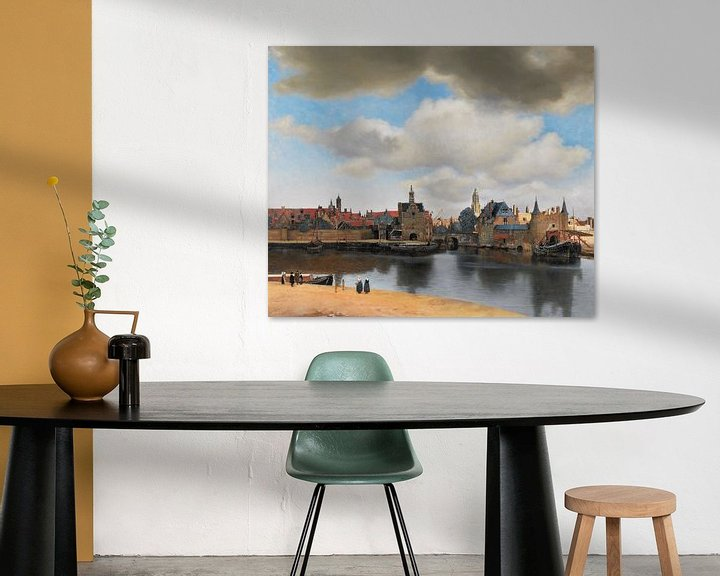 Sfeerimpressie: Gezicht op Delft van Vermeer