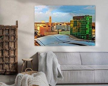 Oud en nieuw Utrecht in avondlicht van Jan van der Knaap