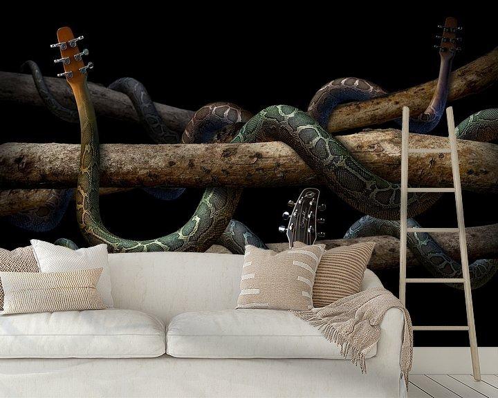 Sfeerimpressie behang: Guitarra Anaconda van Olaf Bruhn