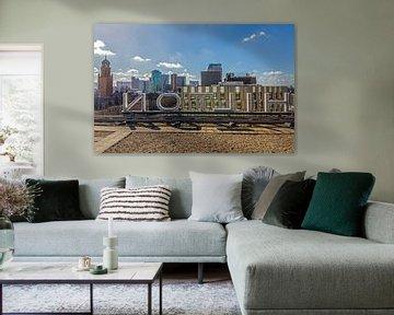 Het uitzicht vanaf het dak van het Hilton Hotel in Rotterdam van MS Fotografie | Marc van der Stelt