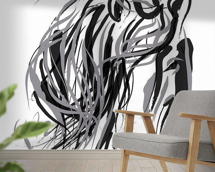 Sfeerimpressie behang: Paard en Haar van Go van Kampen