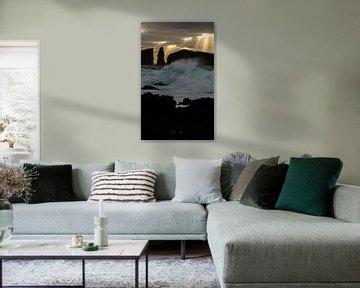 Zonsondergang Azoren bij Mosteiros van Annemarie Winkelhagen