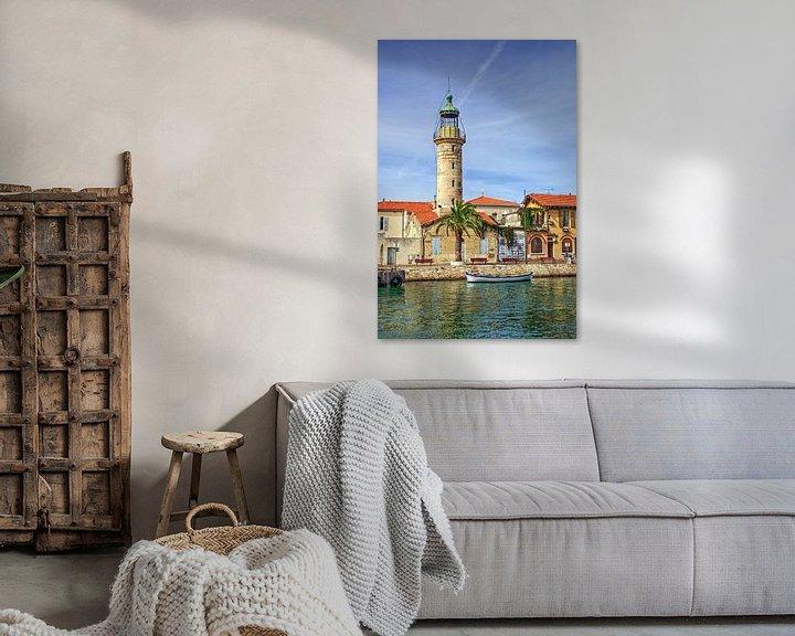 Sfeerimpressie: Lighthouse in the harbor of Le-Grau-du-Roi van 7Horses Photography