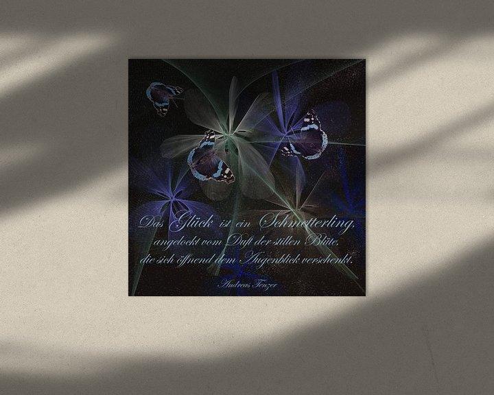 Sfeerimpressie: Geluk is een vlinder ...., van Christine Nöhmeier