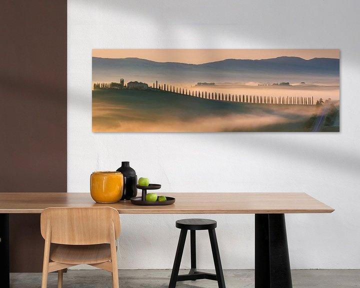 Sfeerimpressie: Zonsopkomst Agriturismo Poggio Covili, Toscane van Henk Meijer Photography