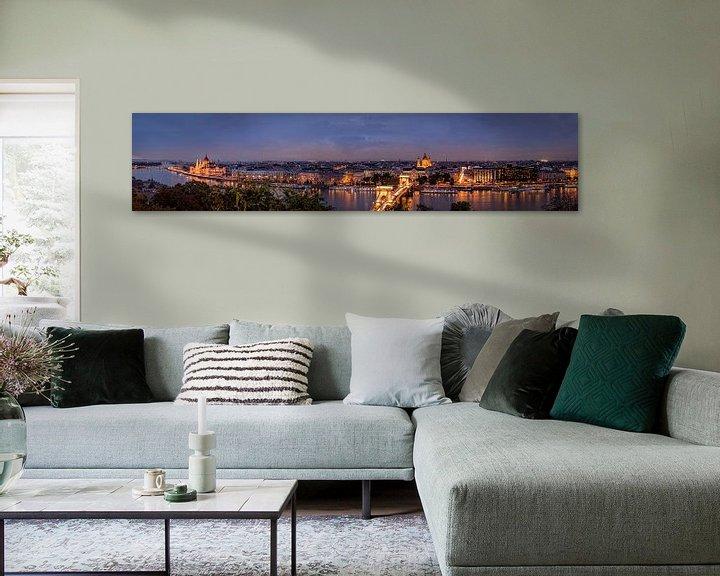 Sfeerimpressie: Panoramazicht van Budapest van Sandra Kuijpers