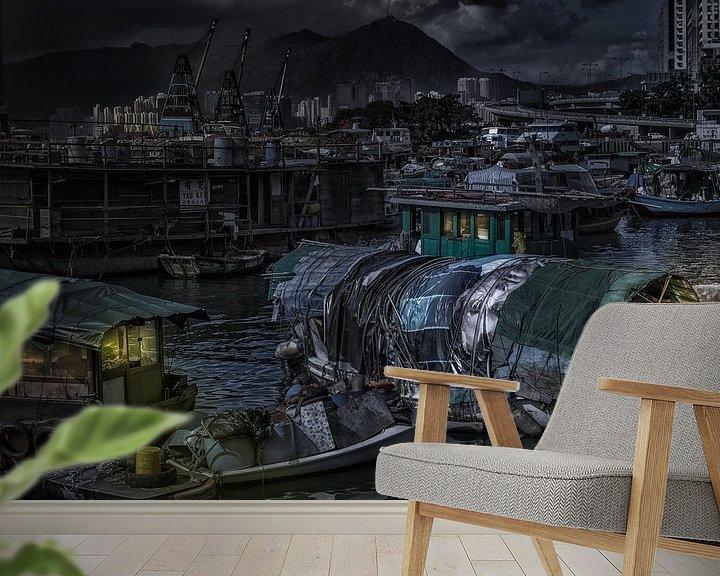Sfeerimpressie behang: Contrast van Sandra Kuijpers