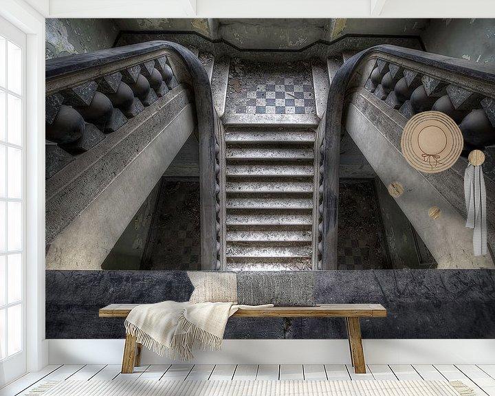 Beispiel fototapete: Canon ball staircase von Steve Mestdagh