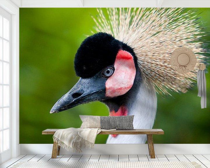 Sfeerimpressie behang: Kraanvogel van Guido Akster