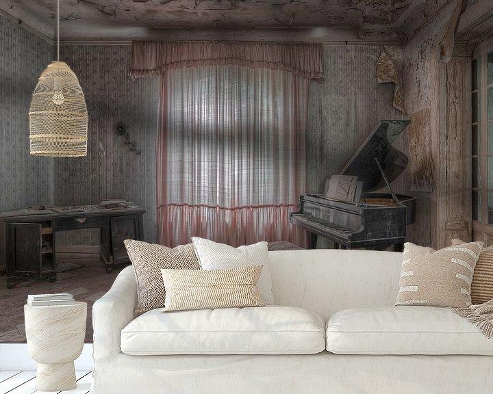 Beispiel fototapete: Piano room von Hettie Planckaert