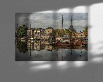 Stadsgezicht Museumhaven Gouda van Renate Oskam