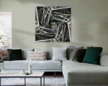 structure in driftwood (005w) von Jeroen van der Meij