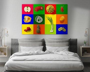 Collage de fruits sur Rietje Bulthuis
