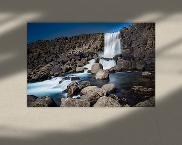 Oxararfoss waterval, thingvellir in IJsland