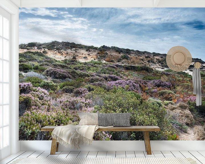 Sfeerimpressie behang: dune plants as erica and beautiful sky van Compuinfoto .