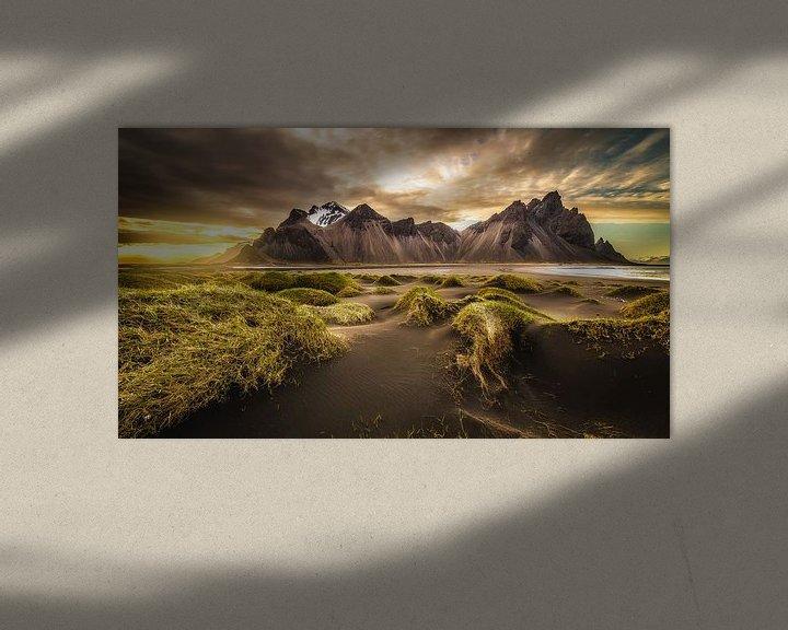 Sfeerimpressie: Vestrahorn, Stokksnes, IJsland van Chris Snoek