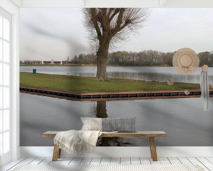 Sfeerimpressie behang: Stilleven in het Weegje van Erik van Riessen