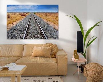 Eisenbahnschienen Afrika von Inge Hogenbijl