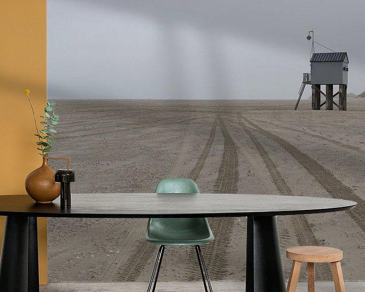 Sfeerimpressie behang: Drenkelingenhuisje Terschelling op nieuwe locatie van Tonko Oosterink