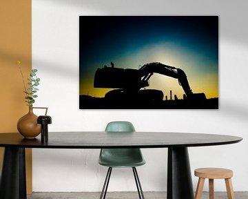 Silhouette graafmachine van Guido Akster
