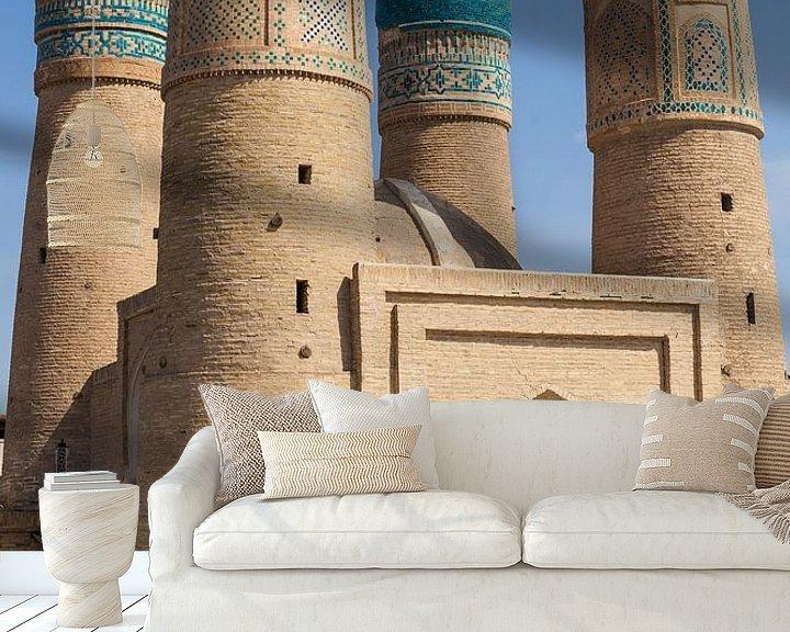Sfeerimpressie behang: Bukhara Oezbekistan van Bart van Eijden