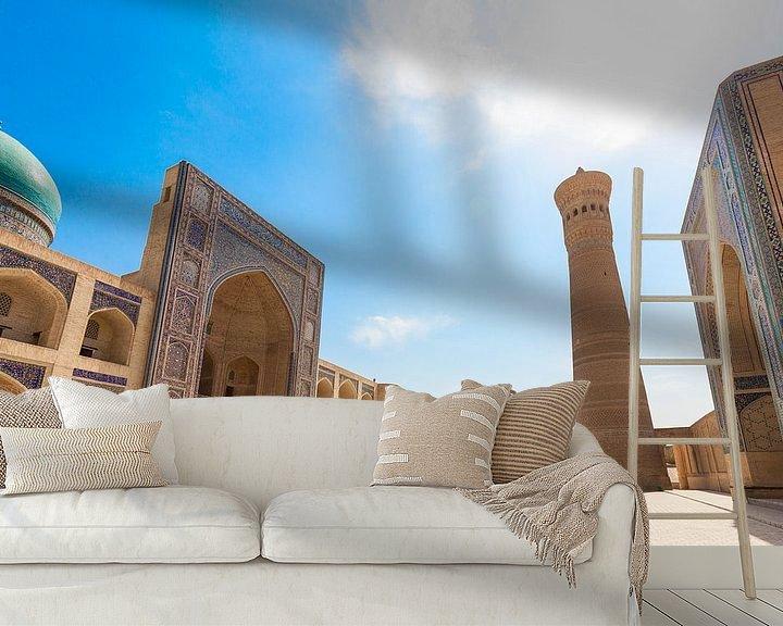 Sfeerimpressie behang: Bukhara Kalan Complex Oezbekistan van Bart van Eijden