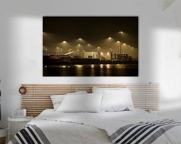 Nachtelijke industrie in de Botlek von Guido Akster