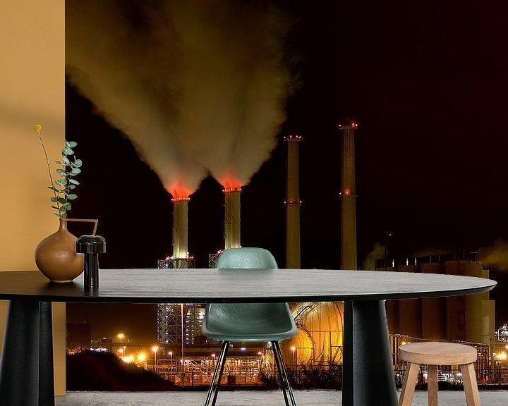 Beispiel fototapete: Nachtelijk werk Botlek Rotterdam von Guido Akster
