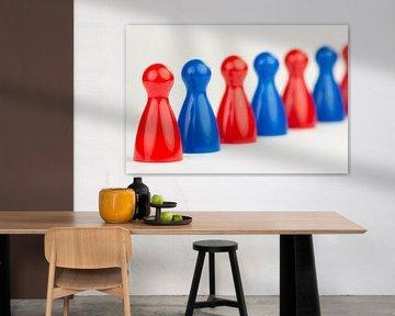 Conceptuele gekleurde speelpionnen  sur Tonko Oosterink