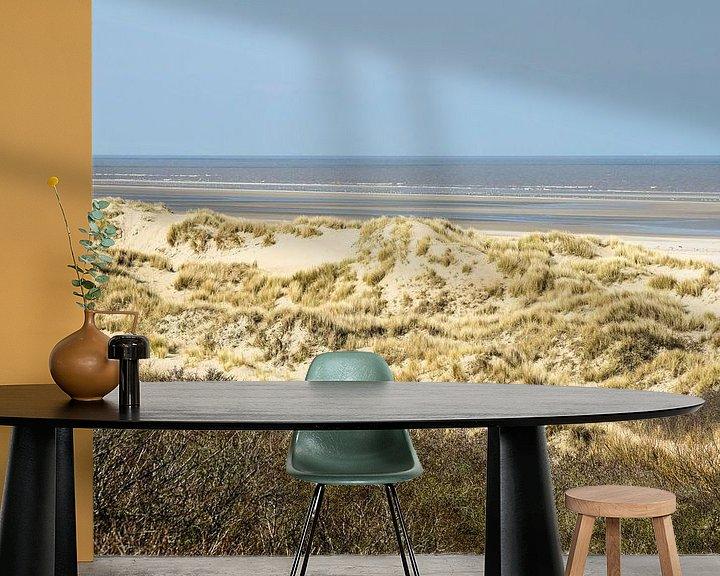 Sfeerimpressie behang: Duinen aan de Nederlandse Kust van Michel van Kooten