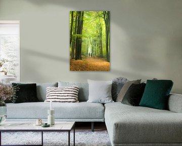 Forest painting van Birgitte Bergman