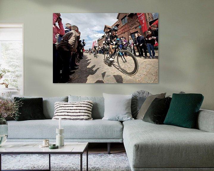 Sfeerimpressie: Wiggins op Carrefour de l'Abre van Leon van Bon