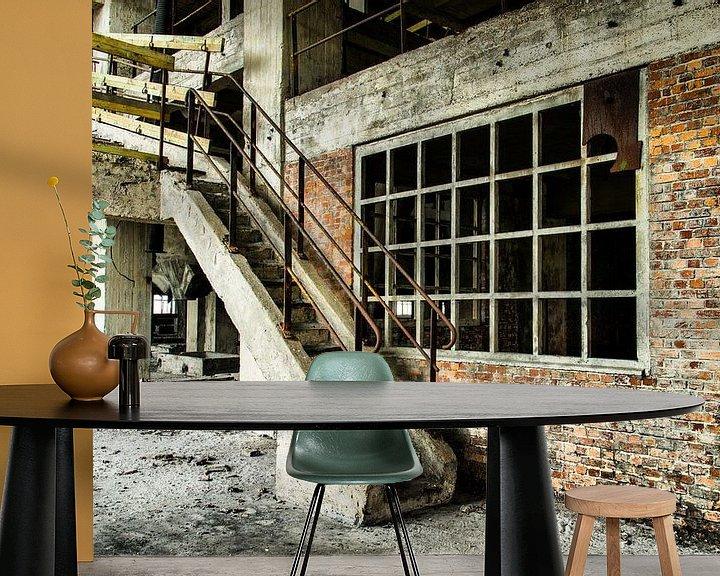 Sfeerimpressie behang: Staircase (Urbex) van Jaco Verheul