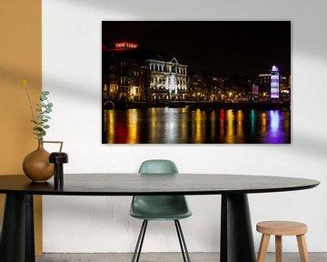 Théâtre Carré Amsterdam la nuit dans de belles couleurs