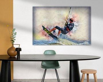Kitesurfen van Peter Roder